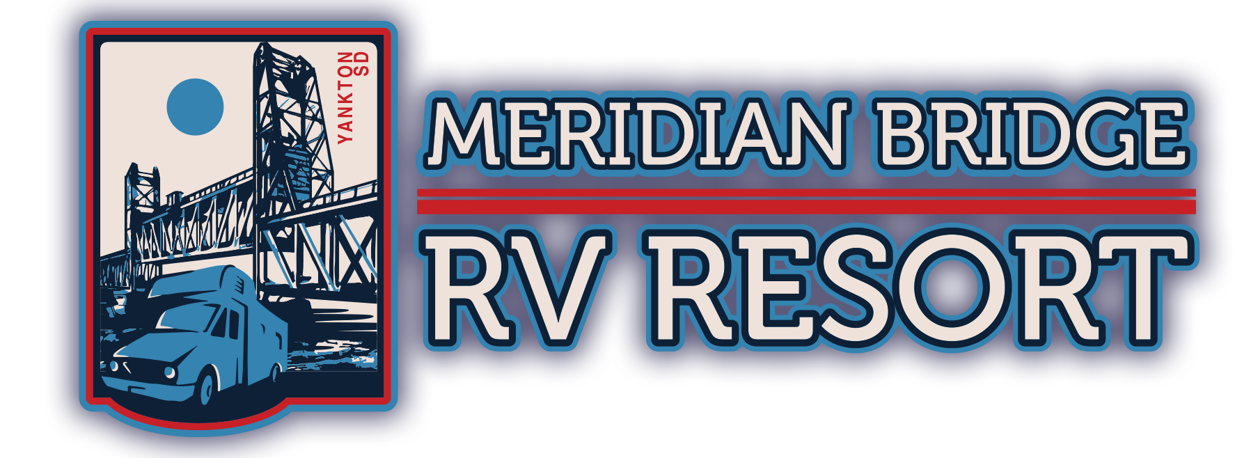 meridian bridge rv resort, south dakota, logo